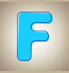 Letter f sign design template element sky vector