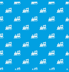 Locomotive pattern seamless blue vector