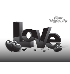 Love Valentine Dark Background vector image
