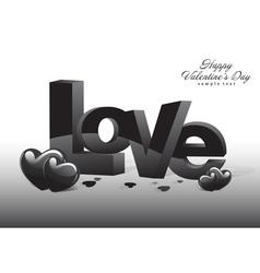 Love Valentine Dark Background vector image vector image
