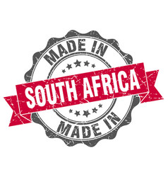 made in south africa round seal vector image