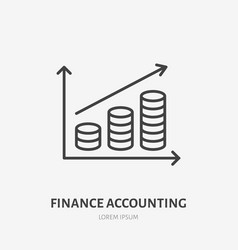 Money infographic flat line icon accounting vector