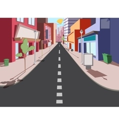 Morning cityscape comics vector image