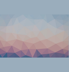 multicolor blue and brown low poly background vector image