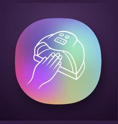 Nail dryer app icon uv led hybrid lamp gel polish vector