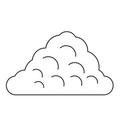 One cloud icon outline style vector