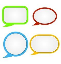 Paper color speech baubles vector image