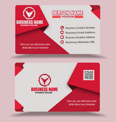 Pink color business card template psd vector