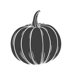 Pumpkin glyph icon vector