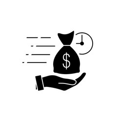Quick and easy loan fast money providence icon vector