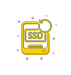 Recovery ssd icon backup data sign restore vector