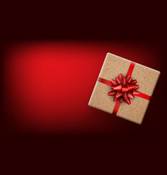 red new year background with gift vector image