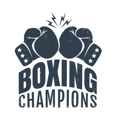 retro logo for boxing champions vector image