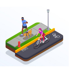 Running and cycling concept vector