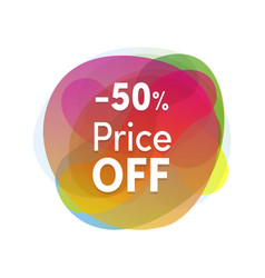 sale sticker colofrul flat design product vector image