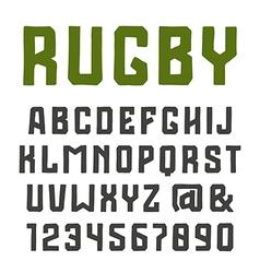 Sanserif font vector