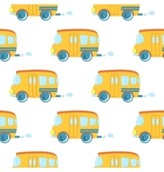 Seamless pattern of cartoon cars vector