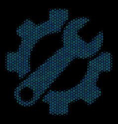 service tools mosaic icon of halftone circles vector image