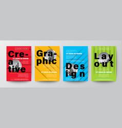 set creative graphic design layout typography vector image
