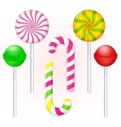 Set-of-candies-lollipop vector