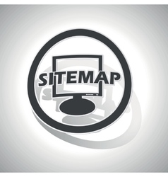 Sitemap sign sticker curved vector