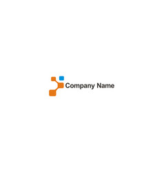 square digital technology company logo vector image