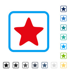 Star framed icon vector