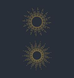 Sunburst icon design vector