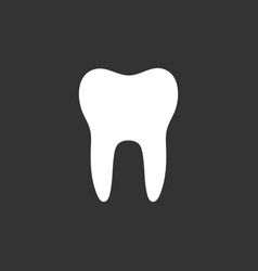 Tooth flat icon on a black background vector