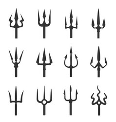 trident icon set vector image