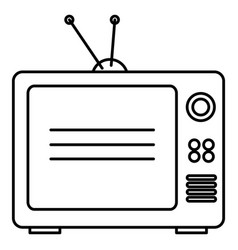 tv old isolated icon vector image