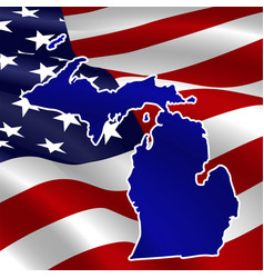 united states michigan dark blue silhouette of vector image