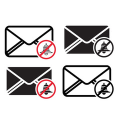 Unsubscribe message mail notification - flat vector