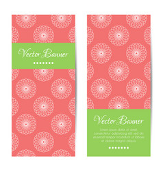 vertical summer banners round ornament vector image
