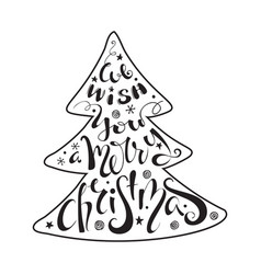 We wish you a merry christmas quote vector