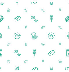 wheat icons pattern seamless white background vector image
