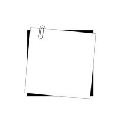 white paper and clip on a white background vector image