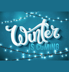 Winter is coming poster vector
