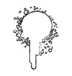 blurred silhouette ink splash paint icon vector image vector image
