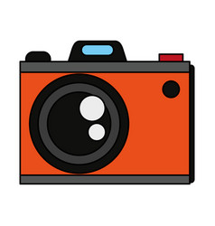 colorful graphic analog camera with flash vector image vector image