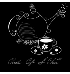 cup of tea poster vector image