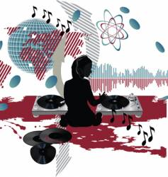 music poster dj vector image vector image