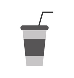 soda plastic cup icon vector image