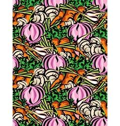 vegetables background vector image vector image