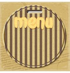 Vintage menu for restaurant vector image