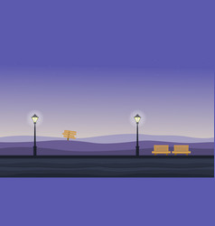 background game of hill landscape at night vector image