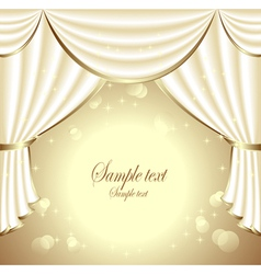 Background with light drapes vector
