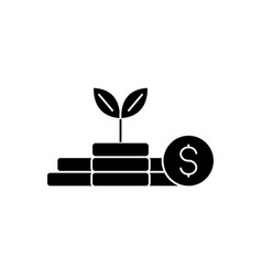 growth money - investment - finance plan icon vector image