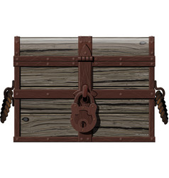 old rusty chest vector image vector image