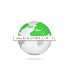 Save our planet vector image vector image